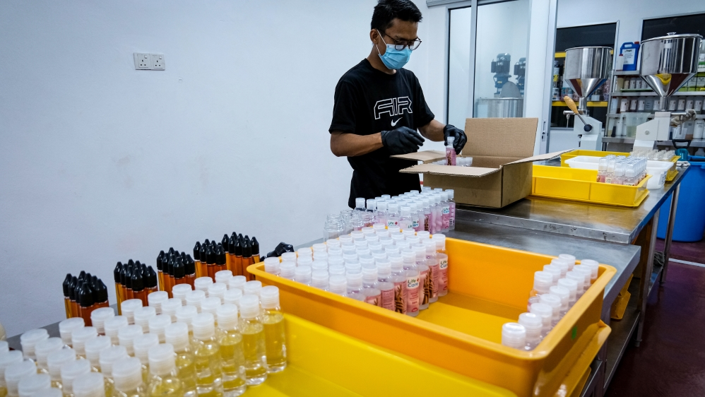 Businesses in Malaysia turn to produce hand sanitizers