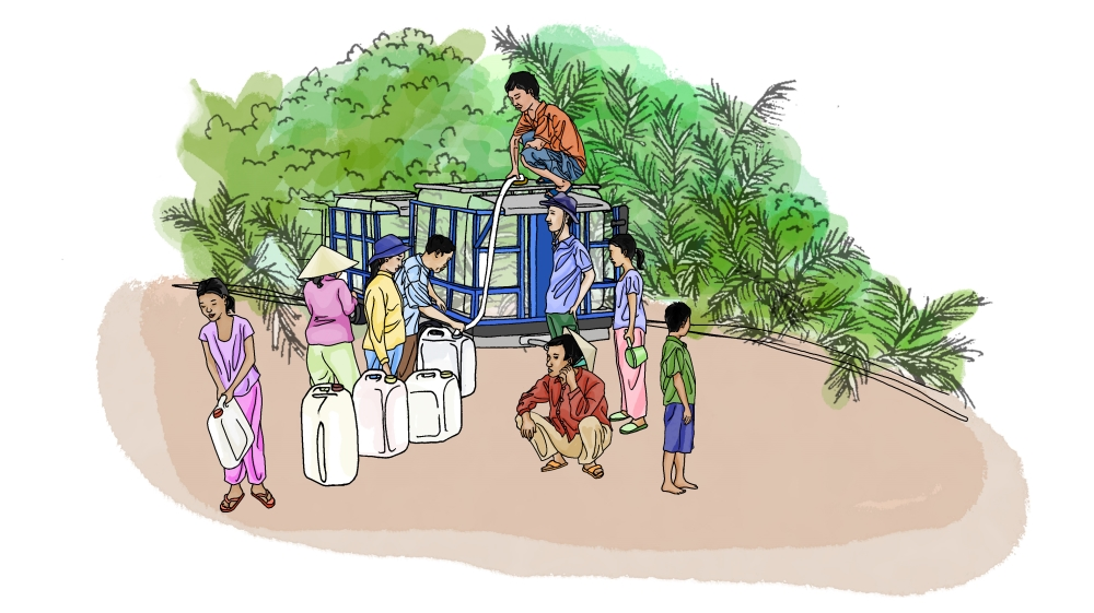 Live Help Illustration - Delta du Mékong au Vietnam [Zoe Osborne/Al Jazeera]