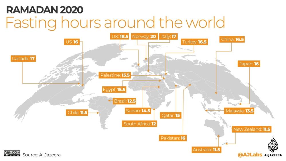 INTERACTIVE: Ramadan timings 2020