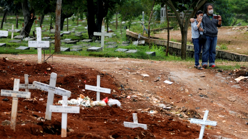 Cemetery area for coronavirus disease (COVID-19) victims in Jakarta