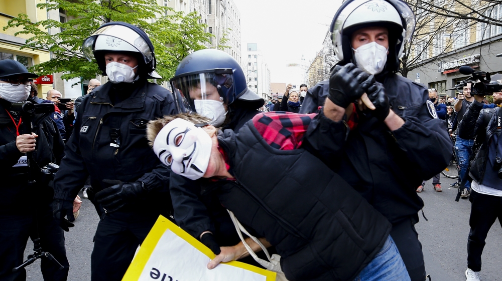 Protest against Coronavirus restrictions in Germany