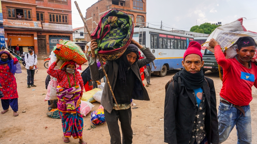 Daily life affected by the coronavirus in Nepal