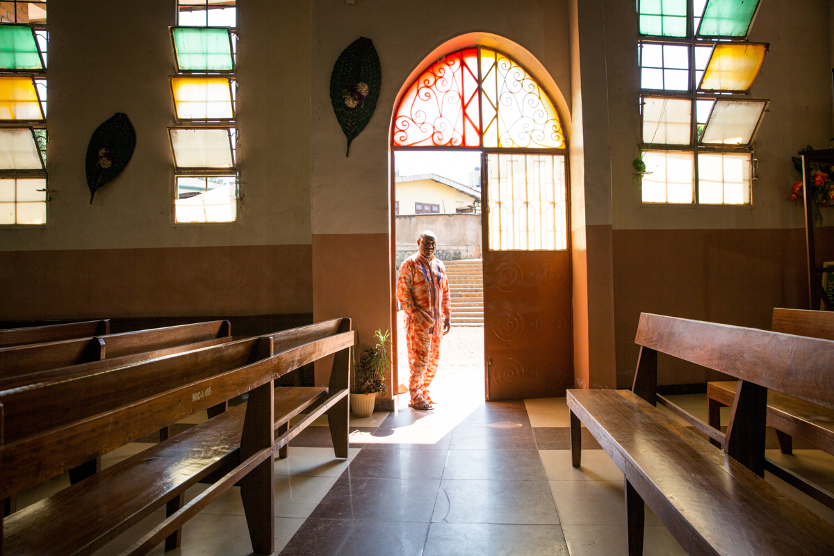 ''The boys, sometimes they want money, sometimes they just want to kill those they suspect do not support their cause,' says Reverend Mokake in the Cameroon Baptist Convention in Bamenda. 'It has been a hard year. We lost five pastors the last years as a result of the escalation of the conflict.' [Ingebjorg Karstad/NRC]