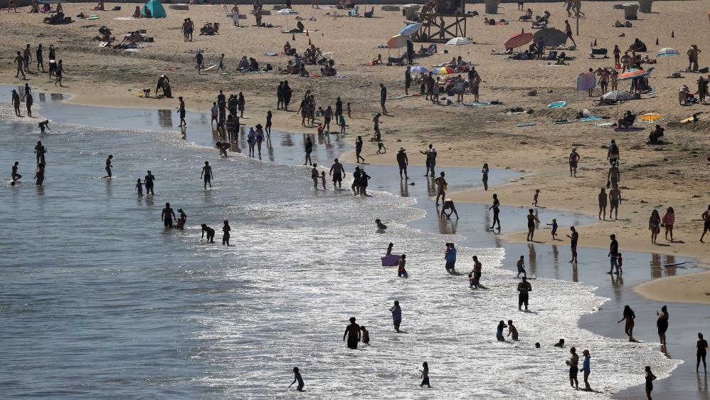 Orange County Beaches In Southern California Remain Open During Coronavirus Lockdown