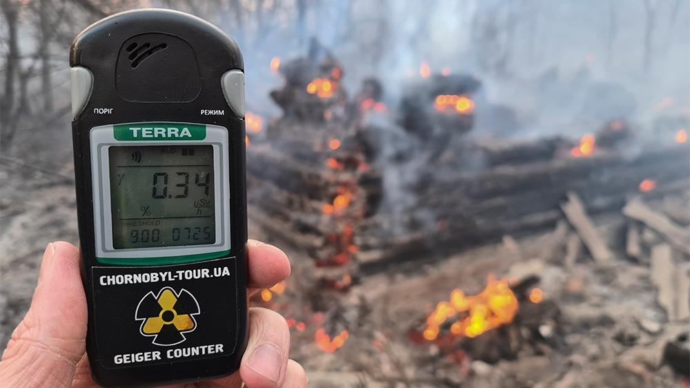 Chernobyl forest fire - outside / inside image