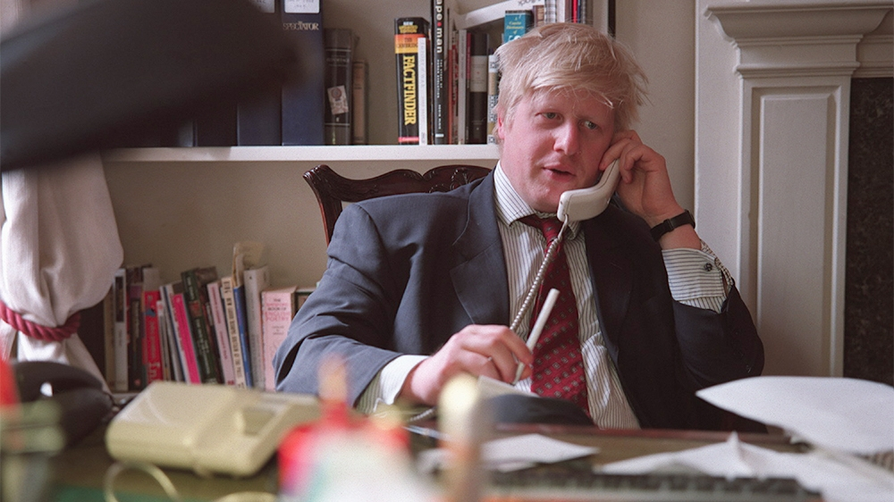 (Original Caption) The Telegraph journalist and editor of the New Statesman, Boris Johnson. (Photo by Neville Elder/Corbis via Getty Images)