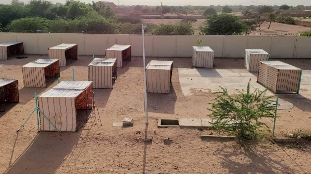 The new quarantine center set up in Agadez by IOM, for people returning from Libya [Courtesy: IOM Niger]