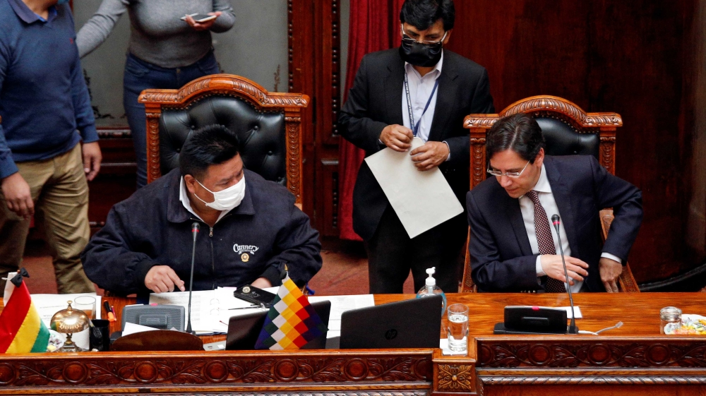 Bolivia's parliament passes law calling for elections in 90 days thumbnail