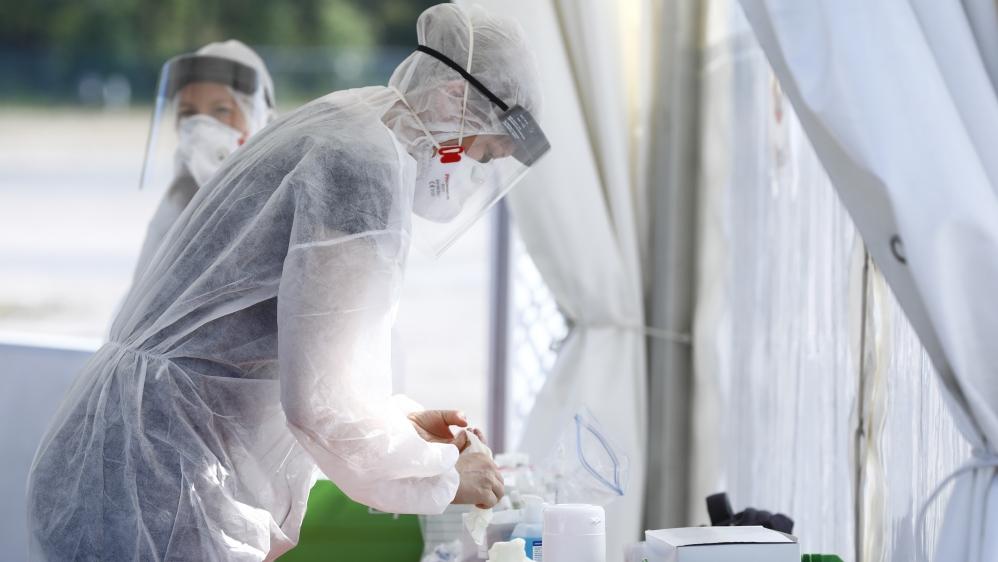 Coronavirus testing site in Berlin