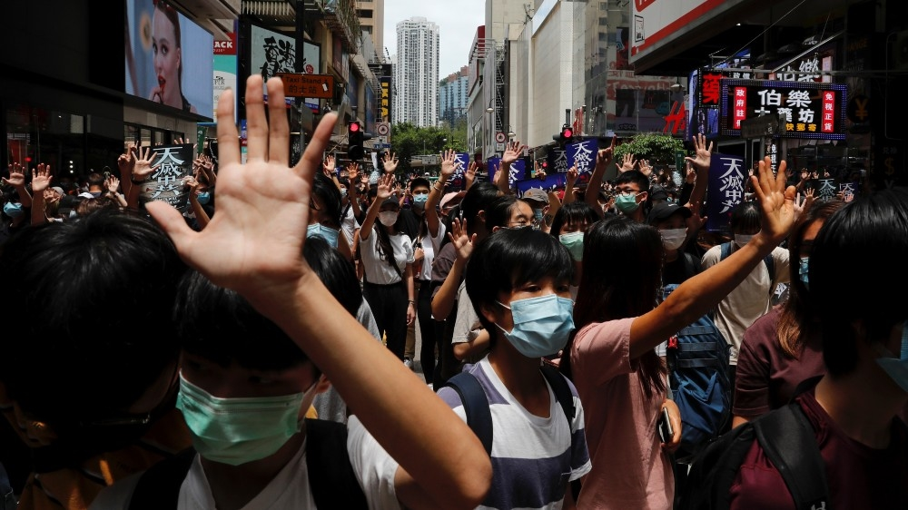 US says China's HK national security law could lead to sanctions thumbnail