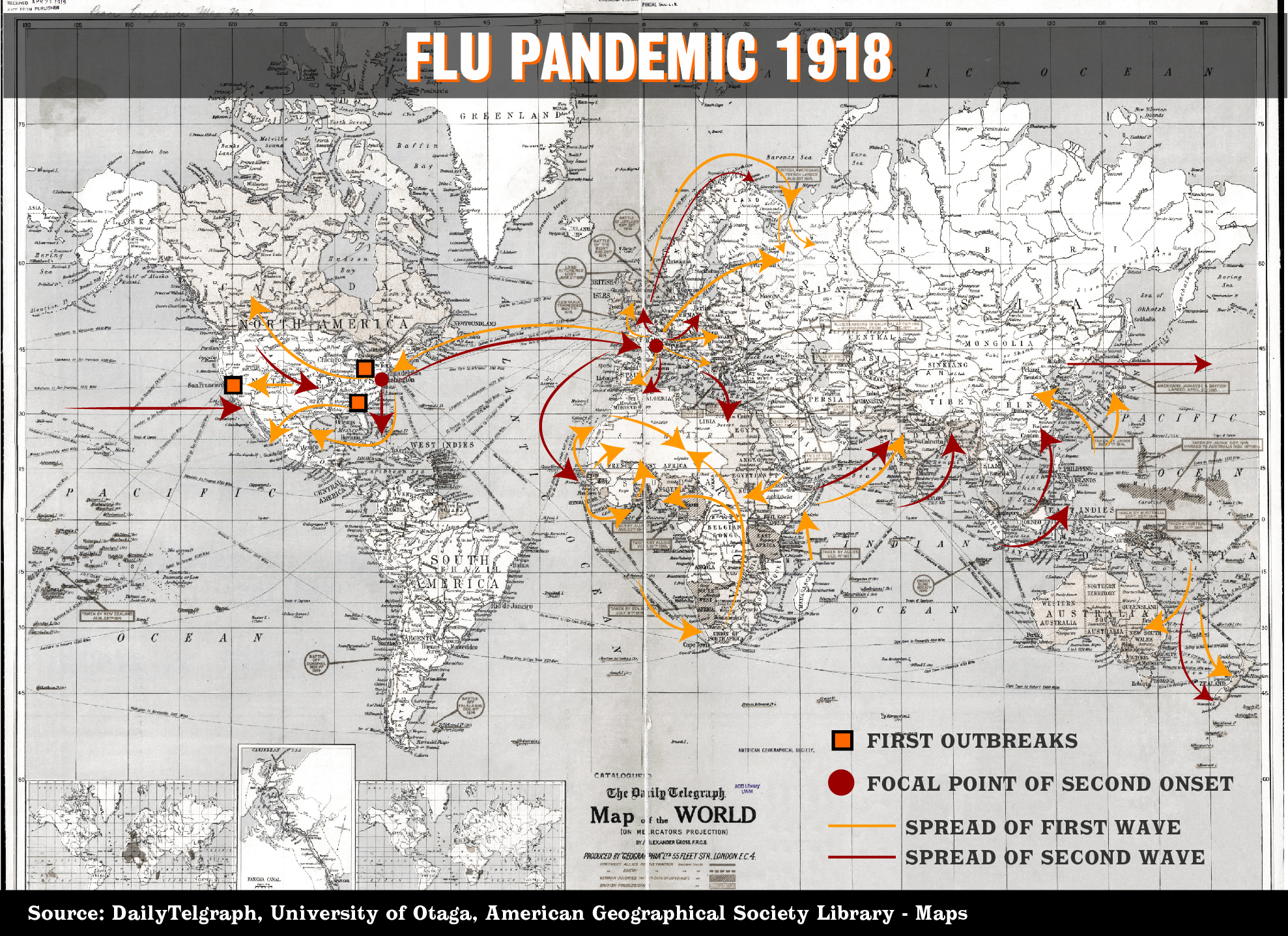 DO NOT USE: INTERACTIVE: Flu pandemic 1918 map