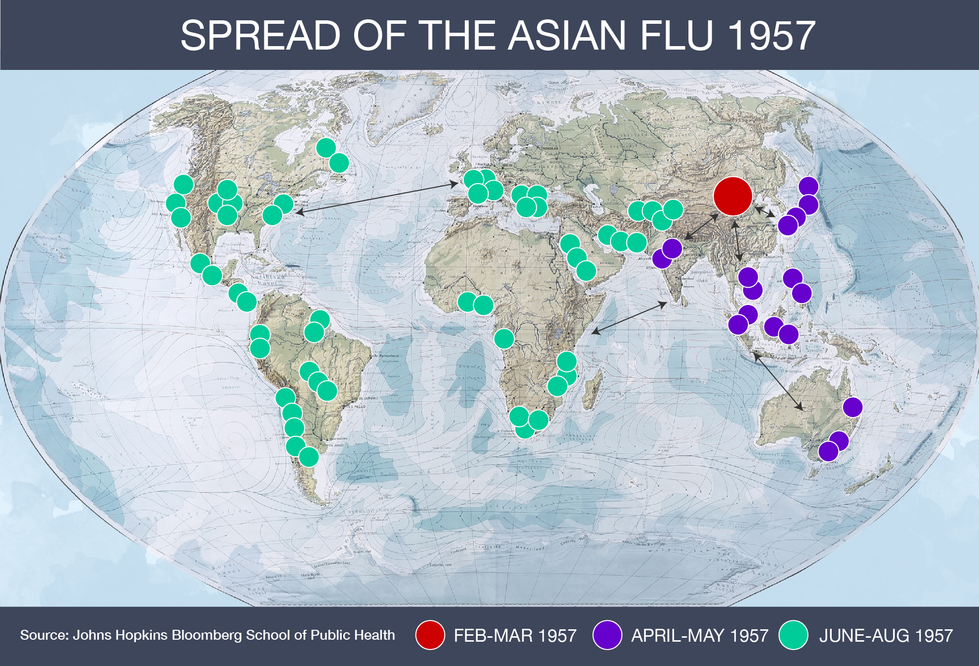 DO NOT USE: INTERACTIVE: Asian flu 1956 map