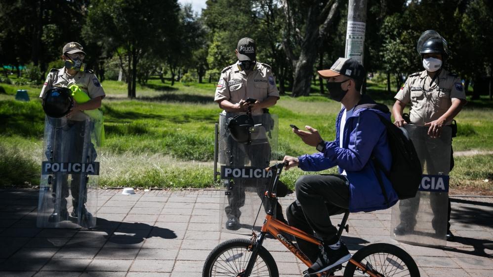 Protest against austerity policies in Ecuador