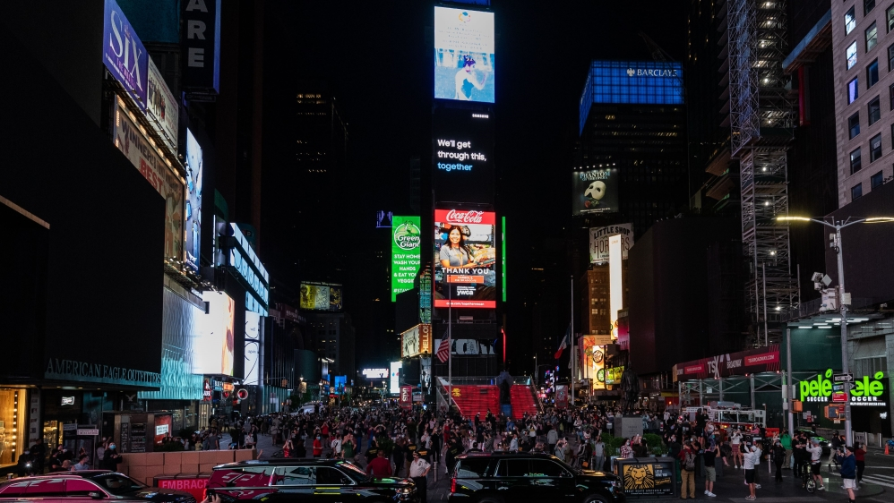Times Square Turns Off All Billboards In Support Of Vulnerable Businesses During Coronavirus Pandemic