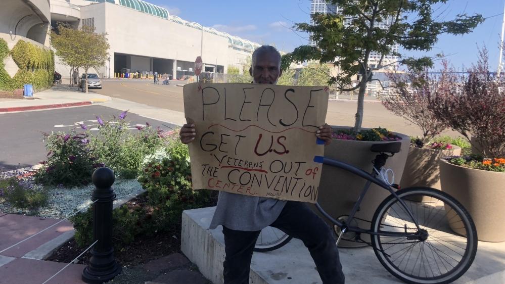 Convention centers US - homeless [Thacher Schmid/Al Jazeera]