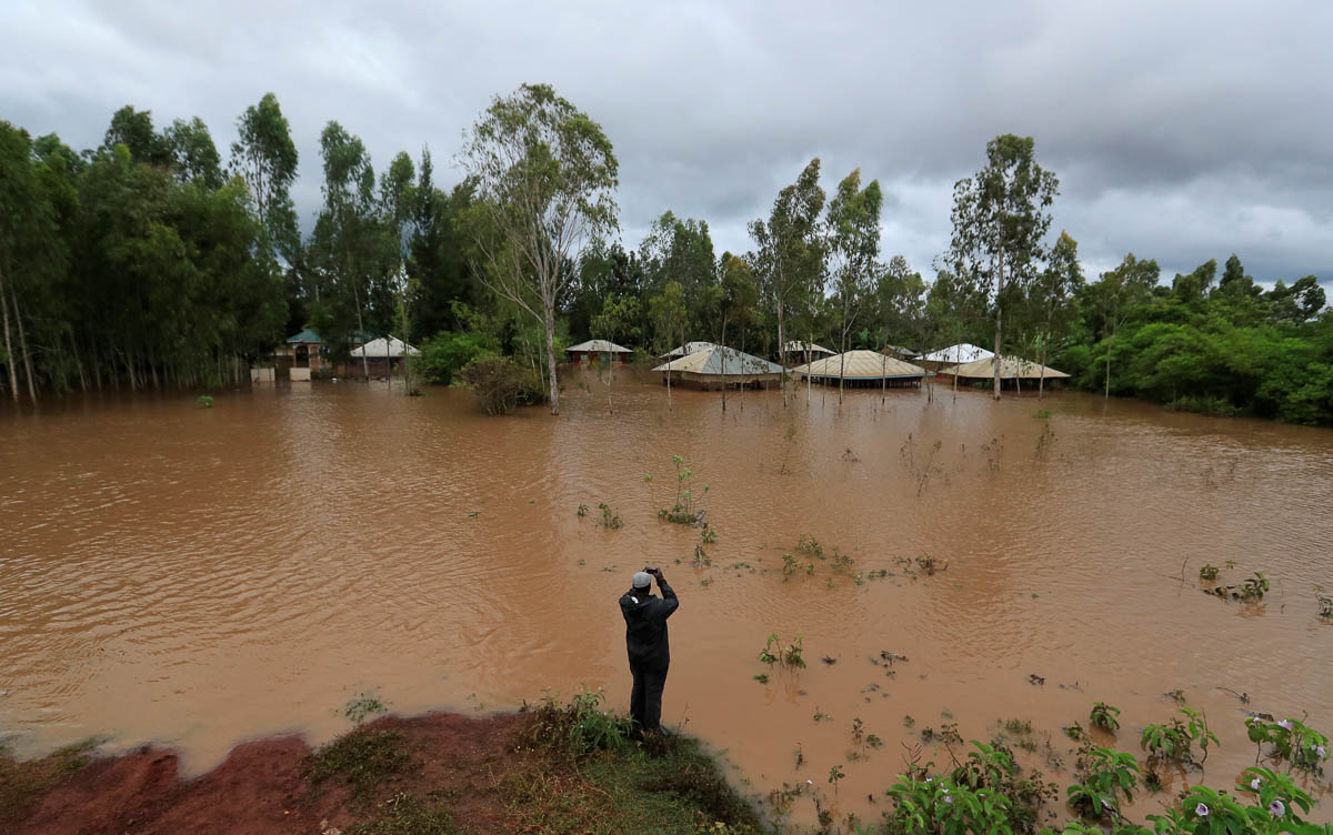 This village in Siaya county flooded after the Nzoia River burst its banks. [Thomas Mukoya/Reuters]