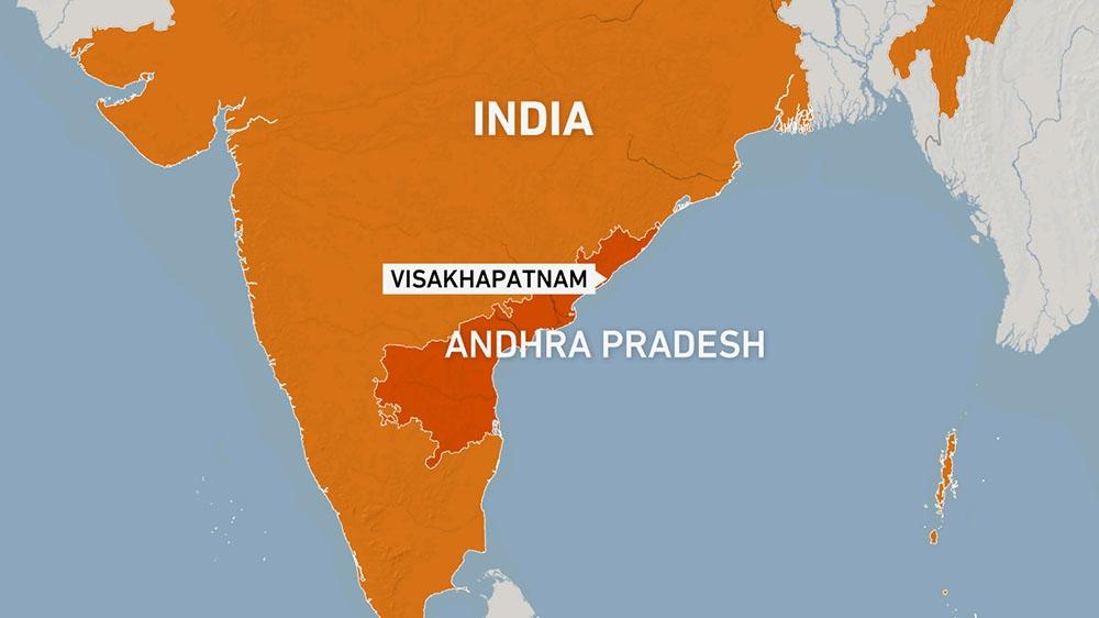 Andhra Pradesh map, India