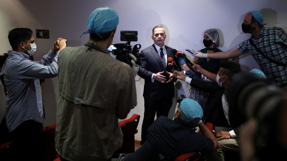 Venezuela's chief prosecutor Tarek William Saab holds a news conference in Caracas
