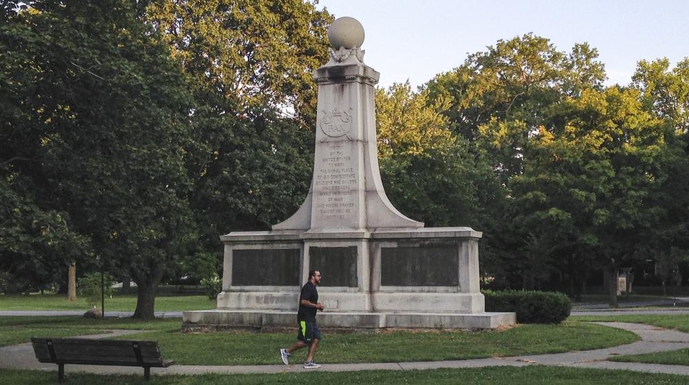 Confederate monument in Indianapolis