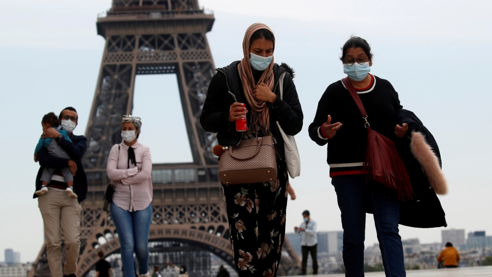 Gradual end to a nationwide lockdown due to the coronavirus disease (COVID-19) in Paris