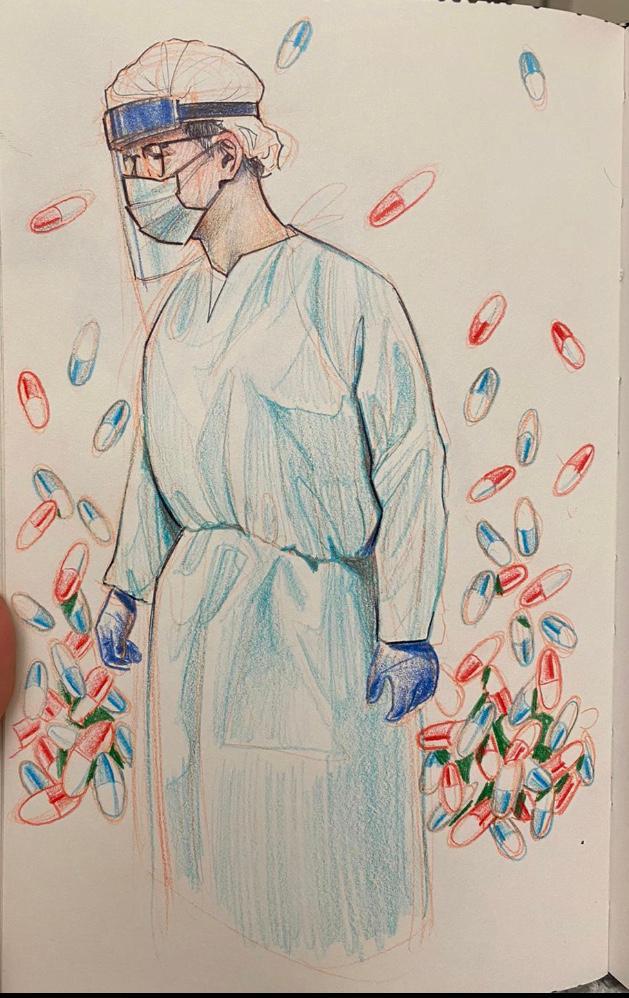 PMIS - Colin Baker article -  Sketch by David Vargas