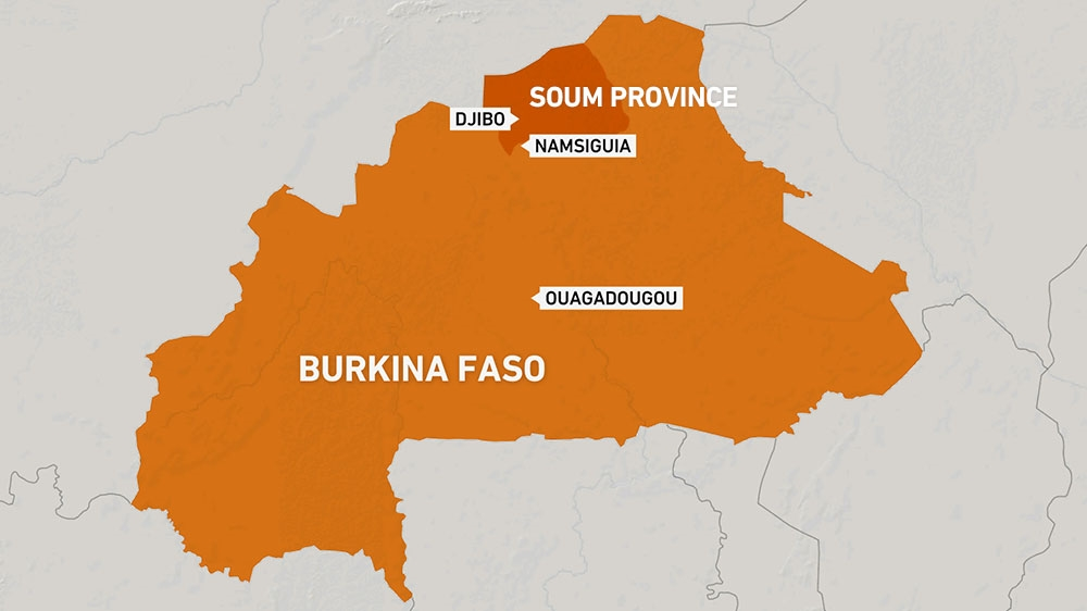 Djibo map - Burkina Faso