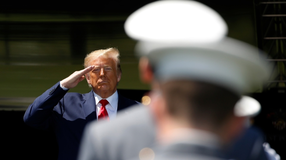 Trump addresses military cadets amid Pentagon tensions thumbnail
