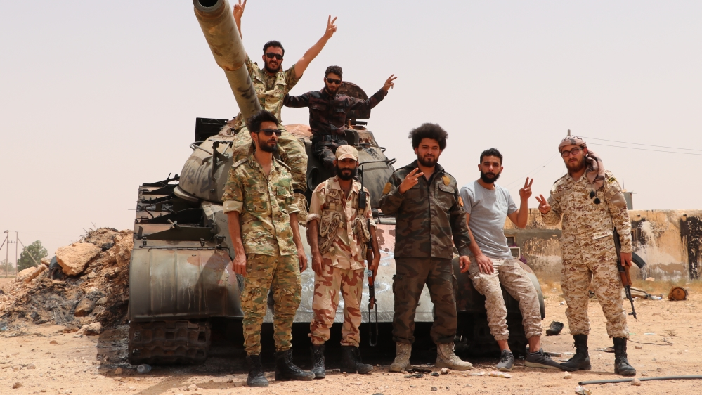 Libyan Army's preparations at Sirte front line