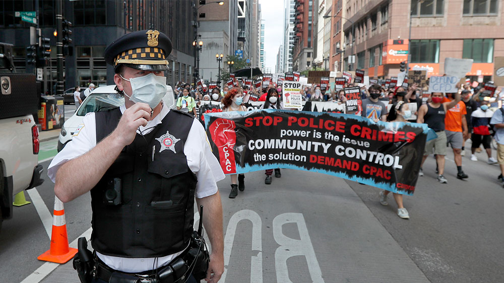 Police protest Chicago