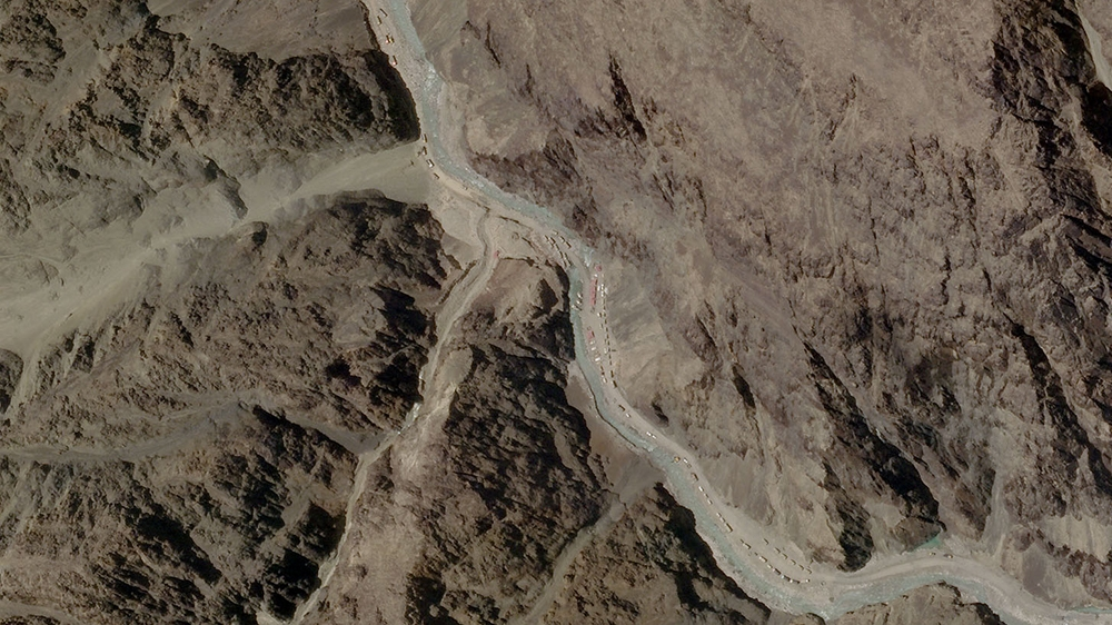 A satellite image taken over Galwan Valley in Ladakh, India, parts of which are contested with China, June 16, 2020, in this handout obtained from Planet Labs Inc. Picture taken June 16, 2020. Mandato