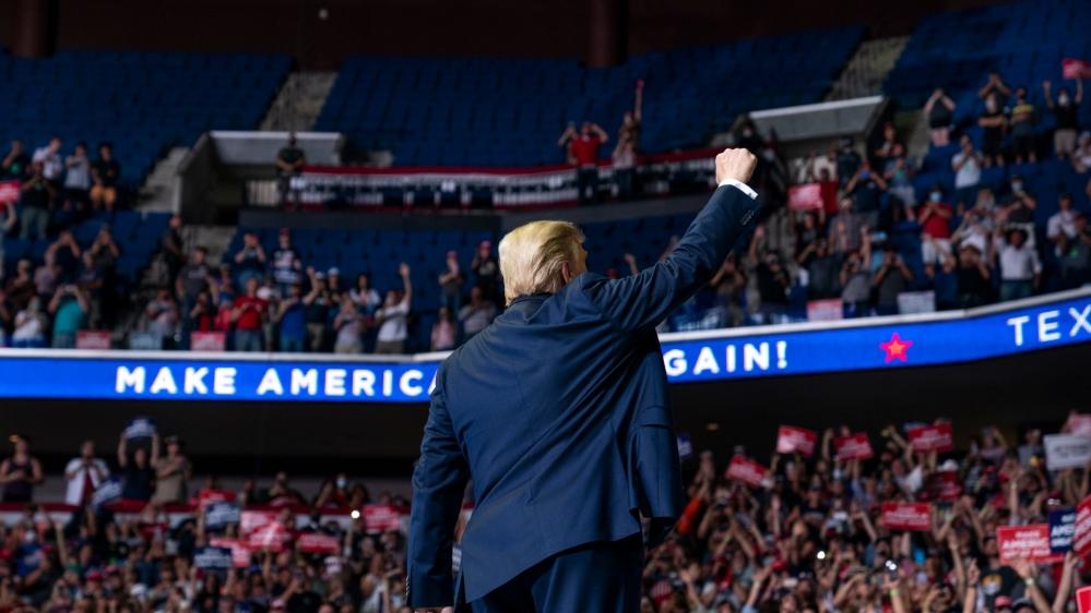 Trump addresses campaign rally at half-empty Tulsa arena thumbnail