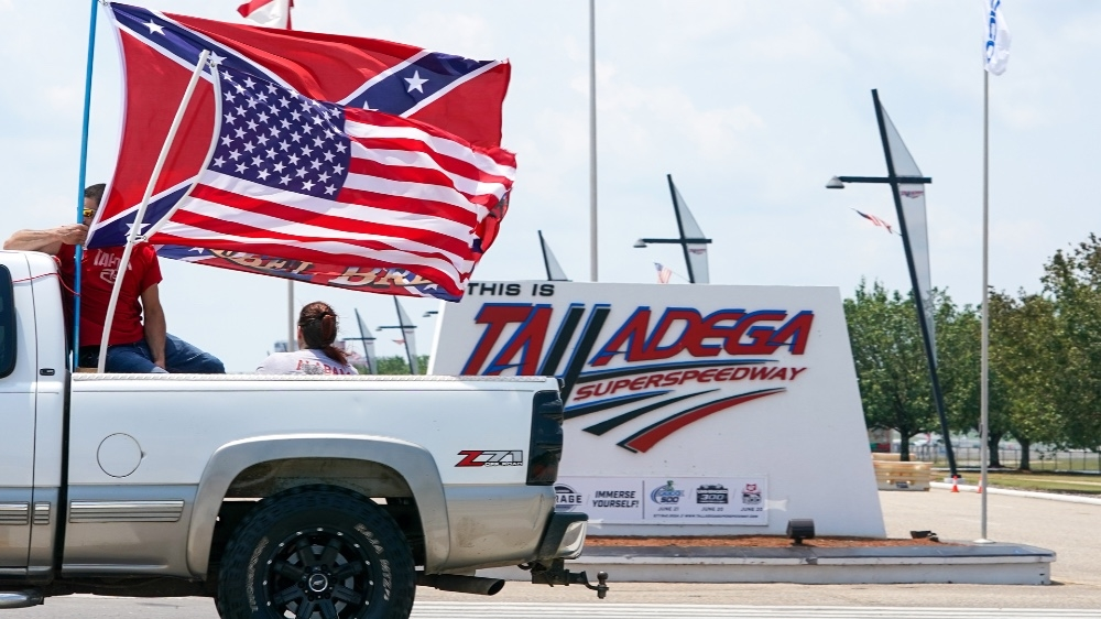NASCAR Talladega Confederate flag