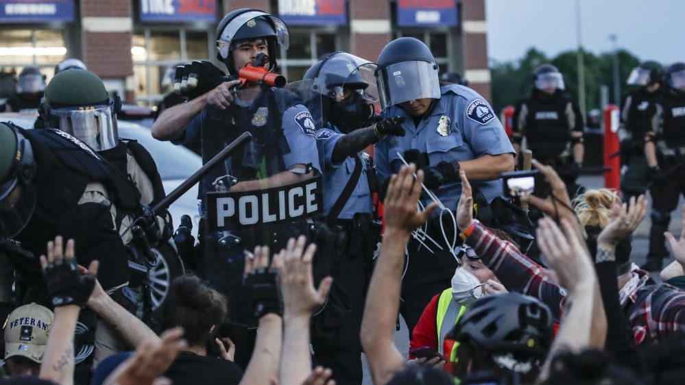 US police violence AP photo