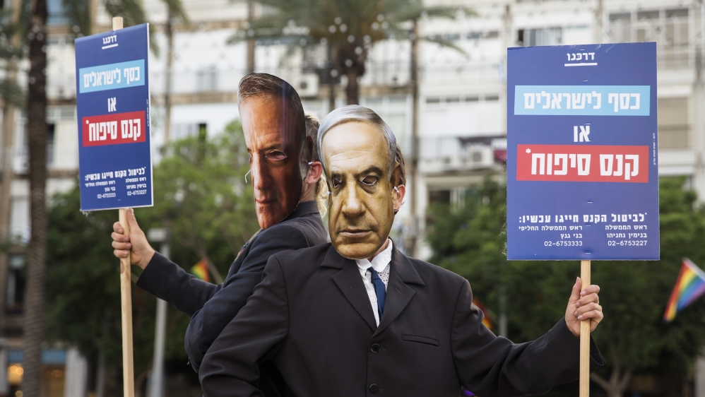 Protest In Tel Aviv Against Israel's West Bank Annexation Plan