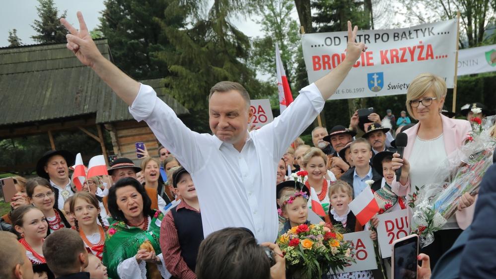 Polish President Andrzej Duda meets Highlanders during his election rally in Zakopane