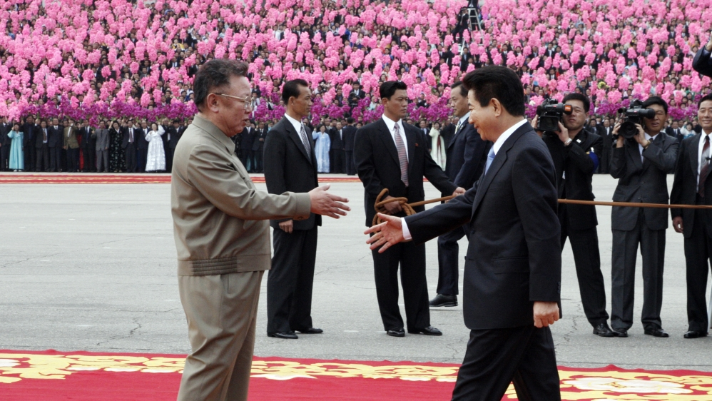 South Korea's president arrived in Pyongyang 2007