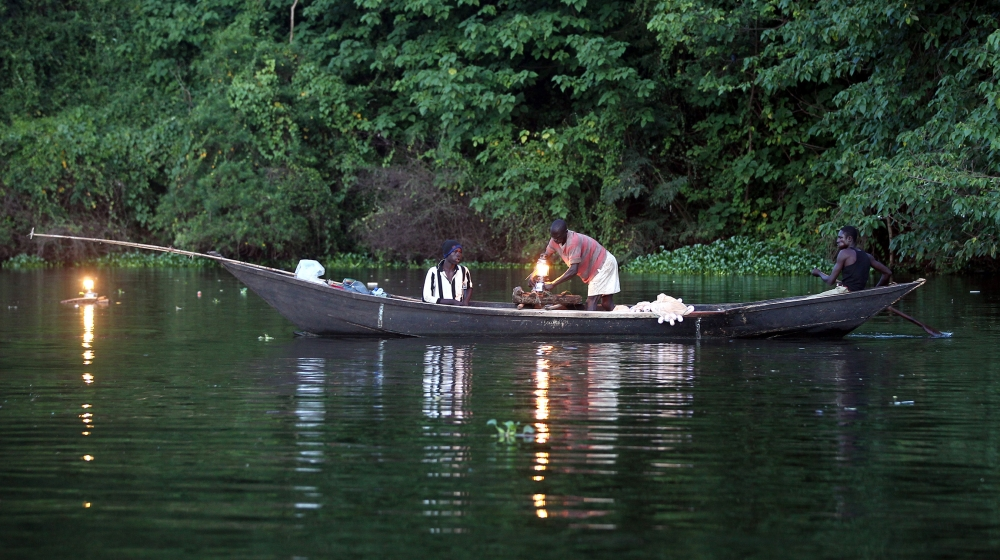 A photo made available on 11 October 2013 shows a fisherman's boat on Lake Victoria near Kampala, Uganda, 08 October 2013. The Victoria Lake is the largest in Africa and the second largest freshwater