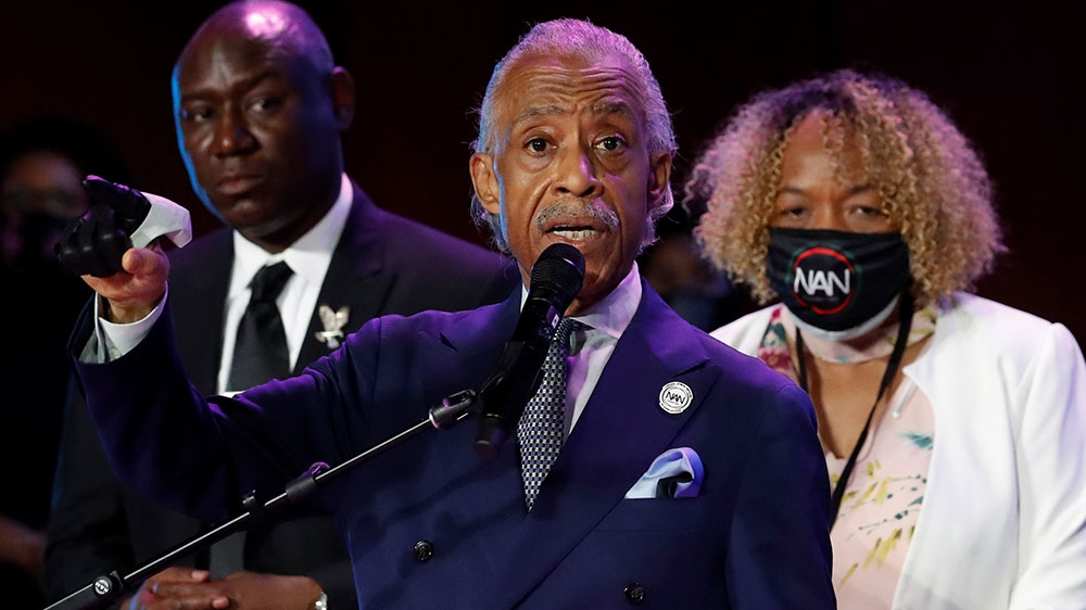 Rev. Al Sharpton eulogizes George Floyd during memorial in Minneapolis