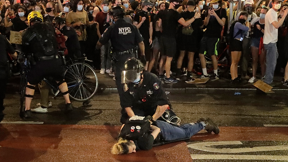 Arrests at widespread US protests blog entry
