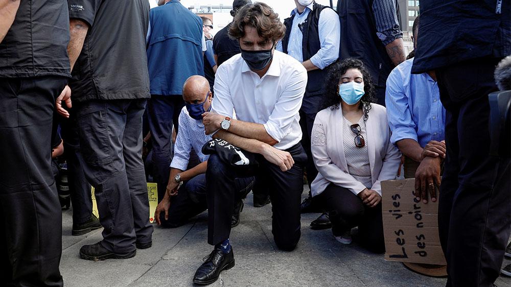 Canada PM Justin Trudeau protest