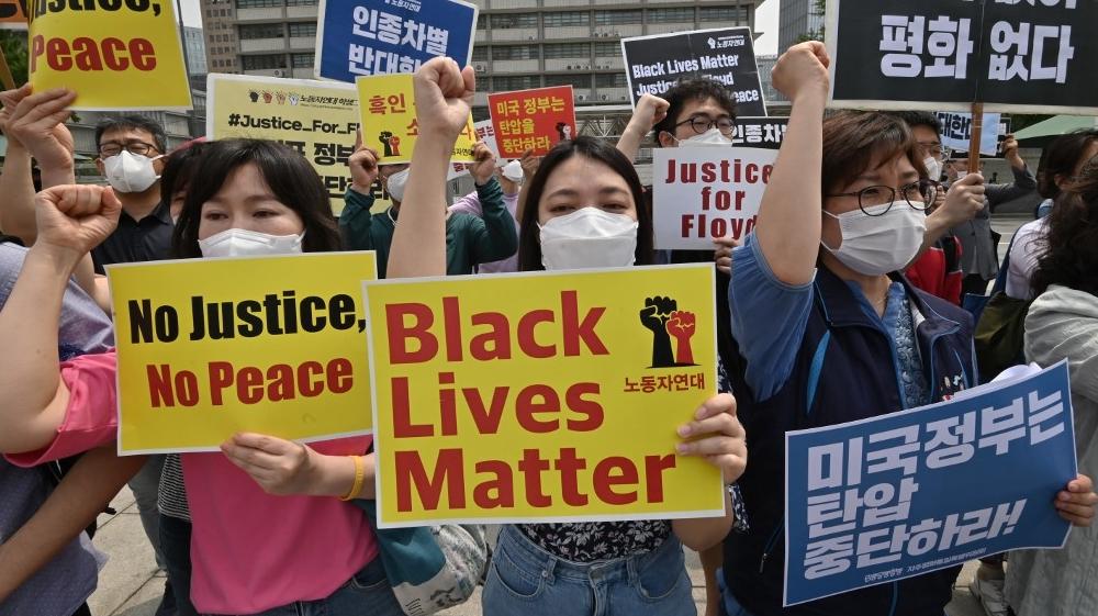 South Korea Floyd protest