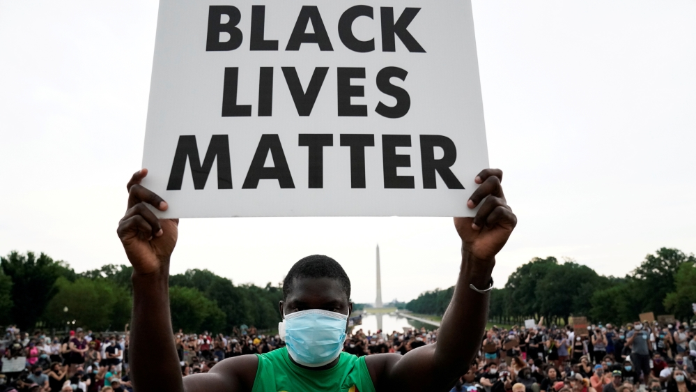 Protest against the death in police custody of George Floyd, in Washington