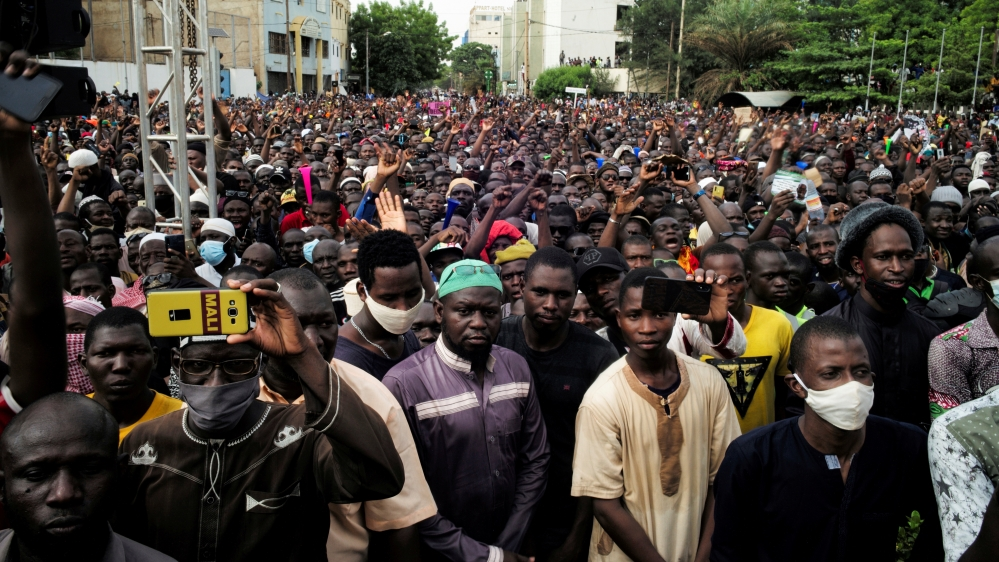 Mass protest to demand the resignation of the Mali's President Ibrahim Boubacar Keita in Bamako