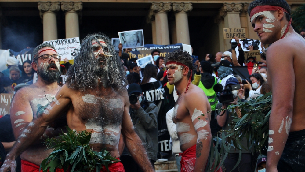 Australians Rally In Solidarity With U.S. Black Lives Matter  Marches Over