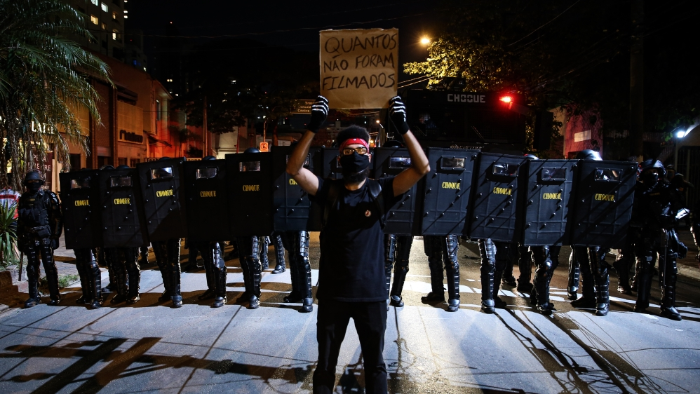 Protests Against Racism and Pro Democracy in Sao Paulo Amidst the Coronavirus (COVID - 19) Pandemic