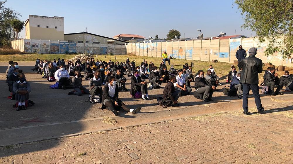South Africa school opening - COVID19-  Westbury Primary school in Johannesburg [Dorion Alexander/Al Jazeera]