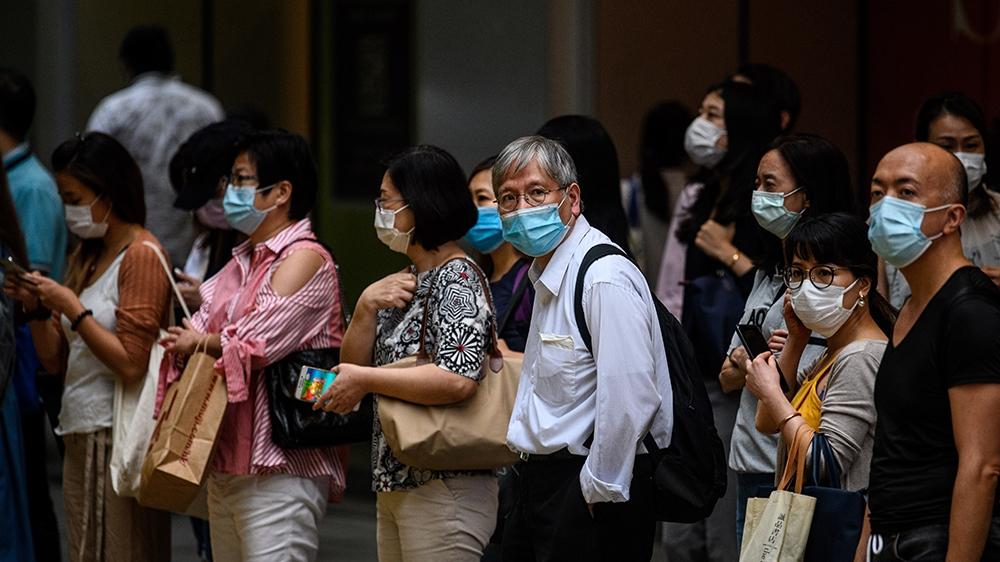 outside image - Hong Kong coronavirus curbs