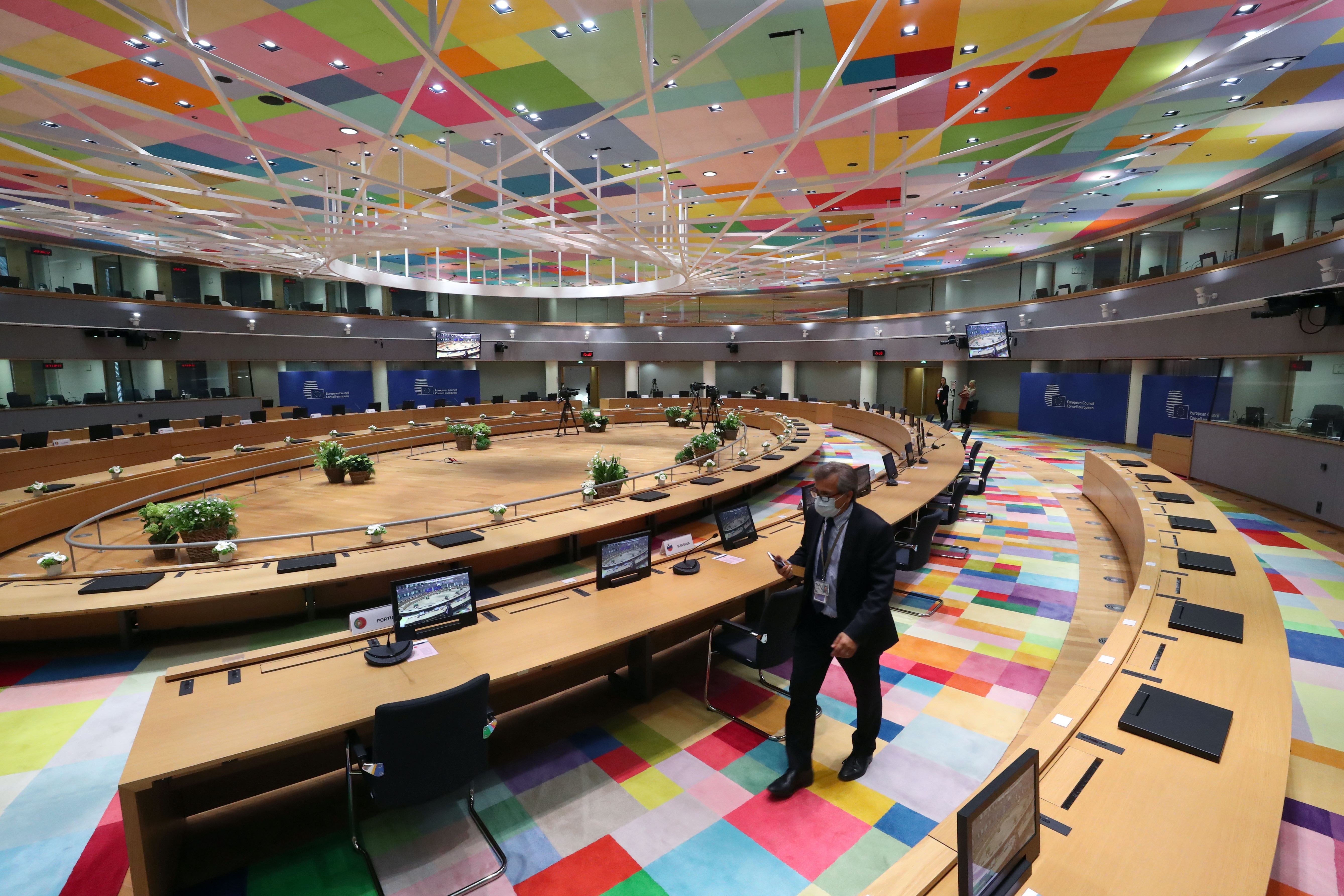 European Union  leaders meet in push for COVID recovery deal