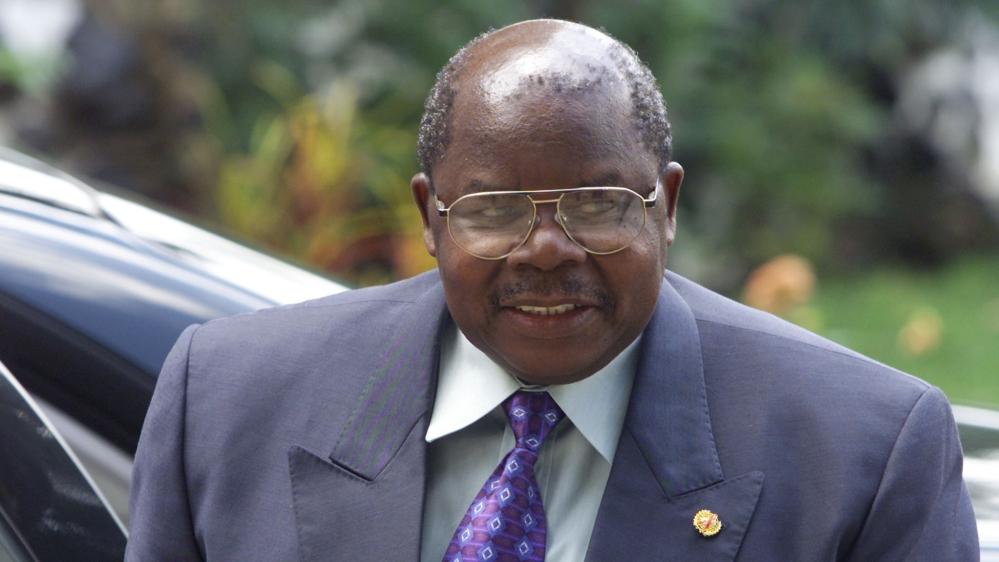 FILE PHOTO: Tanzanian President Benjamin William Mkapa during Burundi peace talks in Arusha, Tanzania