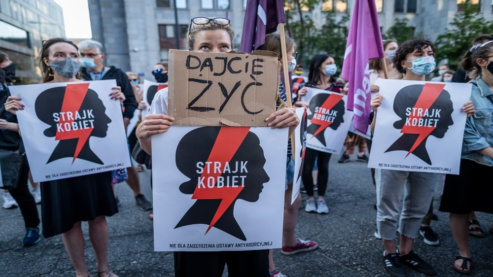 Protests over Poland's plans to withdraw from treaty against gender violence